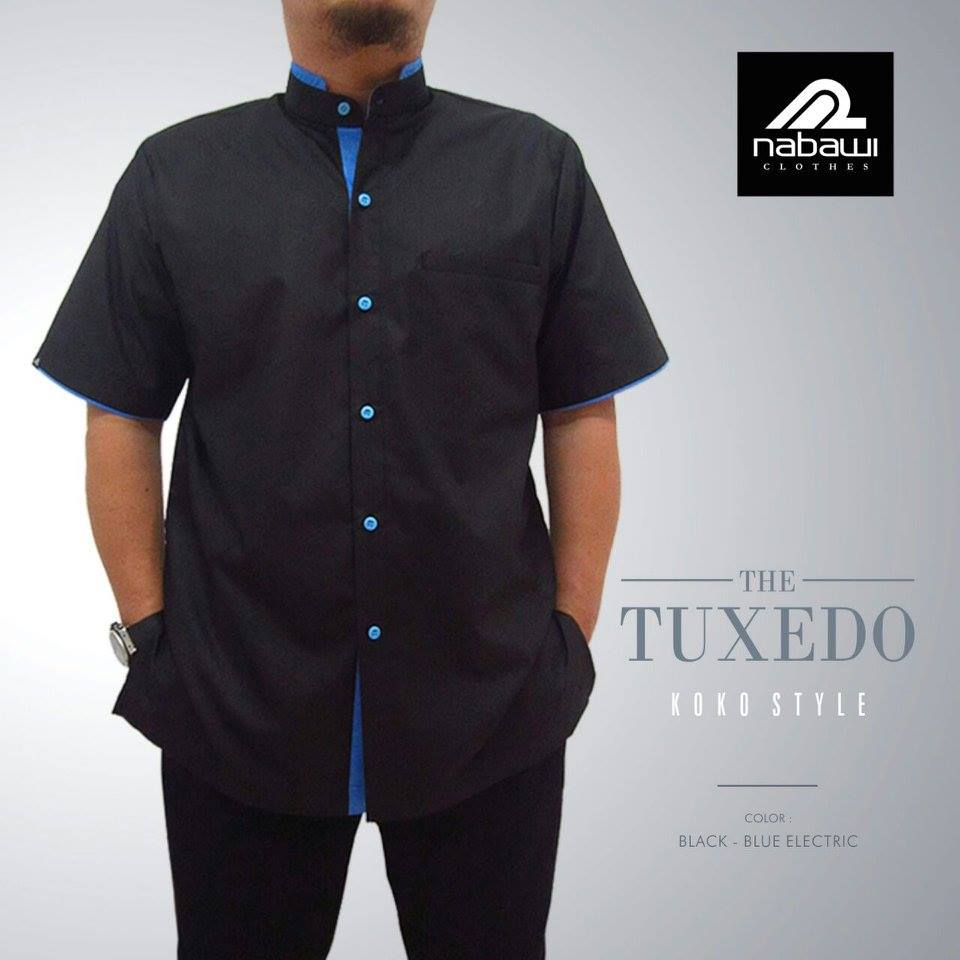 Baju Muslim Pria Nabawi Tuxedo Series Hitam Nabawi Clothes